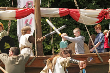 Children can get fully involved in living history